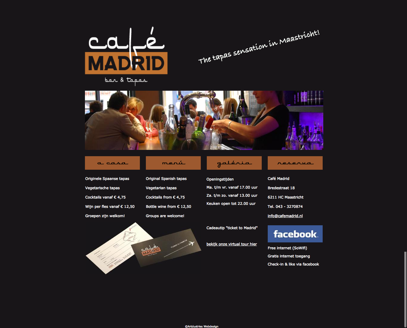 Website Cafe Madrid Maastricht