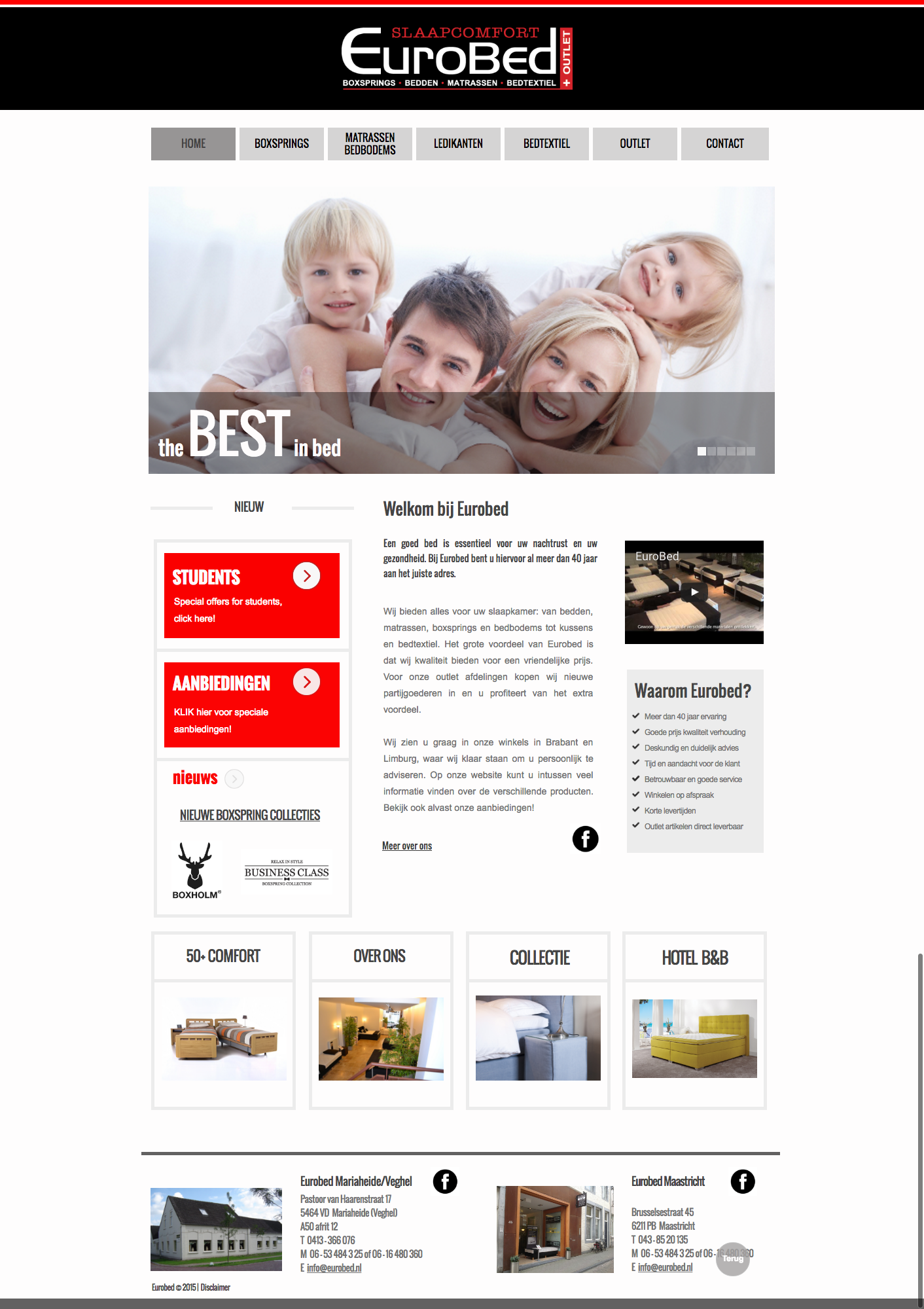 Website Eurobed Maastricht